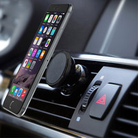 Support de voiture pour téléphone, aimant universel - iPhone - Samsung - Noir