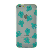 Coque TPU transparente Happy Cactus pour iPhone 6 6s