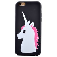 Coque Licorne Rose Blanche Coque Licorne TPU iPhone 6 6s