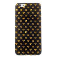 Coque Coeurs Or Noir Coque iPhone 6 6s