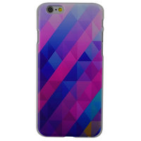 Coque iPhone 6 6s rigide bleu violet triangle