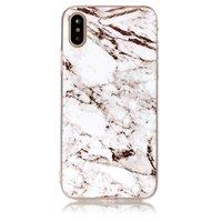 Coque en TPU en marbre iPhone X XS Coque en marbre blanche