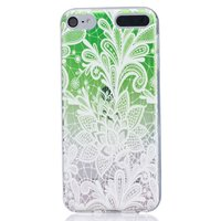 Étui en silicone transparent orné de tissu blanc pour iPod Touch 5 6 7 TPU
