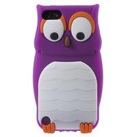 Coque iPod Touch 5 6 7 en silicone 3D pour hibou violet