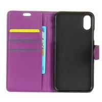 Etui portefeuille pour iPhone X XS - Etui cuir - Bibliothèque