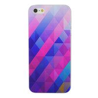 Coque Rigide iPhone 5 5s SE Triangle Bleu Violet
