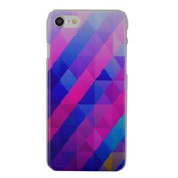 Coque iPhone 7 8 SE 2020 triangle bleu violet