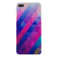 Coque Rigide iPhone 7 Plus 8 Plus Triangle Bleu Violet
