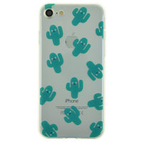 Coque TPU cactus transparent Coque iPhone 7 8 SE 2020