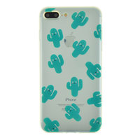 Coque en TPU transparente cactus pour iPhone 7 Plus 8 Plus