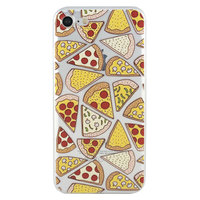 Coque Pizza transparente iPhone 7 8 Coque transparente TPU