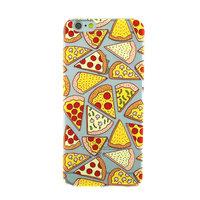 Coque Pizza Etui Transparent Coque TPU iPhone 6 6s