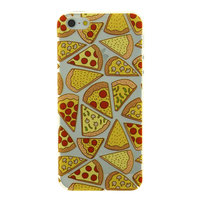 Coque Pizza Etui Transparent Coque TPU iPhone 5s 5s SE Transparent