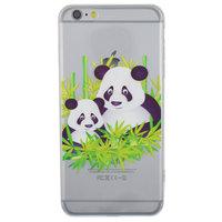 Coque transparente en bambou Panda pour iPhone 6 Plus 6s Plus