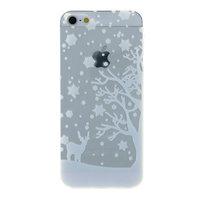 Housse de protection pour iPhone 5 5s SE en silicone de Noël d'hiver blanc