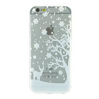 Housse de protection pour iPhone 6 6s en silicone blanc d'hiver de Noël