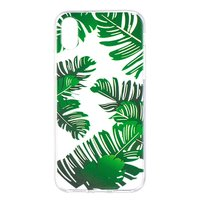 Leaves TPU Coque transparente vert pour iPhone X XS