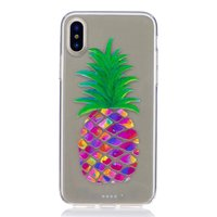 Coque ananas coloré Coque iPhone X XS Fruit transparent