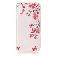 Blossom - Coque en TPU transparente pour iPhone X XS - Fleurs en aérosol - Couvercle pour fleurs