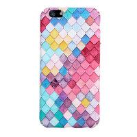 Coque rigide ecailles colorée Housse iPhone 5 5s SE