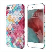 Coque rigide à échelles colorées pour iPhone 7 8 SE 2020