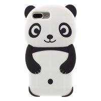 Coque Rilakkuma Panda pour iPhone 6 Plus 7 Plus 8 Plus Housse en silicone noir et blanc