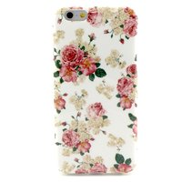 Coque iPhone 6 6s Classic fleurs roses blanches
