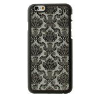Coque Baroque Noire iPhone 6 6s Hard Case Case Fleur de Damas au Henné
