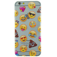Coque transparente smiley Emoji pour iPhone 6 Plus 6s Plus