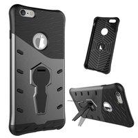 Coque de protection Armor pour iPhone 6 Plus 6s Plus, gris noir