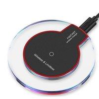 Universel transparent sans fil Qi chargeur pad chargeur chargeur sans fil