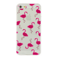 Coque en TPU rose flamingo transparente Coque Etui iPhone 5 5s SE