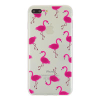 Etui flamingo rose transparent Coque Coque iPhone 7 Plus 8 Plus