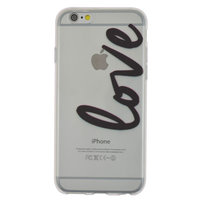 Coque TPU Coque Transparente iPhone 6 6s Love