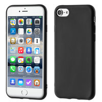 Coque iPhone 7 8 SE 2020 en TPU noir mat