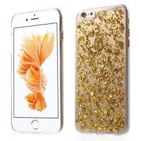 Coque transparente avec coque en TPU doré pour iPhone 6 et 6s en feuille d'or