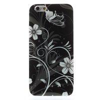 Coque TPU Fleurs noires et blanches Coque iPhone 6 6s