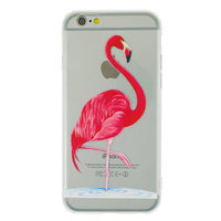 Coque en TPU flamant rose transparent pour iPhone 6 6s