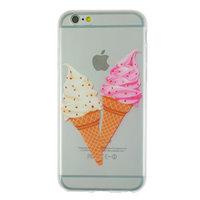 Coque transparente à glace souple pour iPhone 6 et iPhone 6s rose et blanc