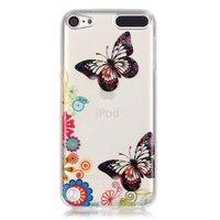 Étui coloré papillons fleurs iPod Touch 5 6 7 étui transparent