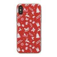 Coque Noël Coque iPhone X XS rouge Coque Noel