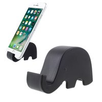 Support mobile éléphant noir iPhone standard coffre universel