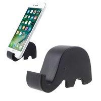 Support mobile éléphant noir iPhone tronc standard universel
