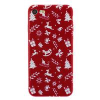 Etui de Noël rouge iPhone 7 8 TPU Etui de Noël Etui rouge
