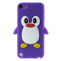 Pingouin iPod Touch 5 6 7 Pingouin Violet Silicone 3D Case