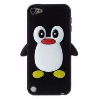 Pingouin iPod Touch 5 6 7 Pingouin Coque 3D en silicone noir