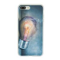 Coque TPU Incandescent pour iPhone 7 Plus 8 Plus - Étui pour ampoule industrielle
