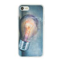 Coque étui en TPU pour iPhone 7 8 - Ampoule industrielle