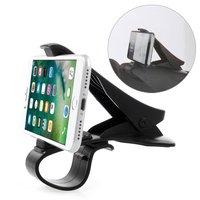 Pince de serrage universelle pour téléphone de voiture pour smartphone - iPhone Samsung - Noir
