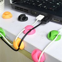 Support de câble double 12 câbles clips de rangement de câble - vert rose orange